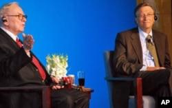 巴菲特和盖茨在北京记者会上