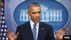 奥巴马总统12月16号在他今年的最后一次记者会上