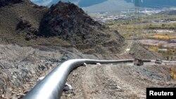 Một phần của đường ống dẫn khí đốt gần Agarak, Armenia.
