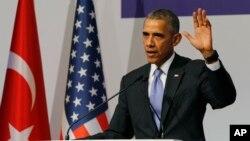 Tổng thống Mỹ Barack Obama trong cuộc họp nhà báo tại Antalya, Thổ Nhĩ Kỳ, ngày 16/11/2015.
