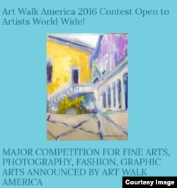 A Facebook image of the Art Walk America Contest, June 18, 2016.