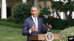 美國總統奧巴馬星期一在白宮就馬航客機在烏克蘭被擊落和加沙問題發表講話。