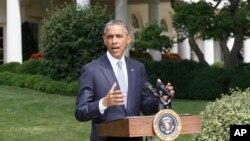7月21日,美国总统奥巴马在白宫发表讲话。(资料照片)