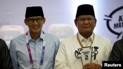 Pasangan Capres-Cawapres No. urut 2: Prabowo Subianto (kanan) dan Sandiaga Uno (foto: ilustrasi).