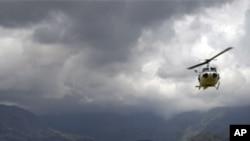 ہیلی کاپٹر گر کر تباہ، ہلاکتوں کا خدشہ