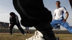 استاديوم ورزشی غازی در کابل پس از سقوط طالبان