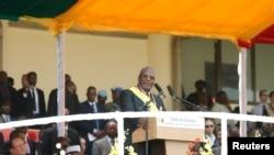 马里总统凯塔9月19日在他的总统就职仪式上
