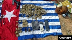 Sejumlah barang bukti milik anggota KSB yang berhasil diamankan tim satgas gabungan TNI-Polri, Minggu 16 Agustus 2020. (Courtesy: Polda Papua)