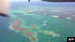 Đảo san hô nhìn từ trên không tại quần đảo Ðông Sa ở phía đông Ðài Loan