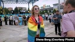 عکسی از یکی از تجمع های مدافعان حقوق دگرباشان جنسی.