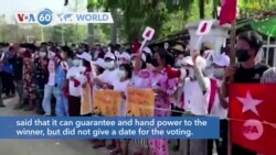 VOA60 World - Myanmar Protesters Block Trains and Streets After Military Coup