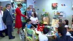 NO COMMENT. Դոնալդ Թրամփի հետ Ֆրանսիա այցելության շրջանակներում Մելանիա Թրամփը այցելել է երեխաների հիվանդանոց