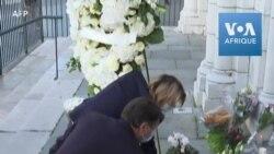 Attaque au couteau à Nice: hommage devant la basilique Notre-Dame