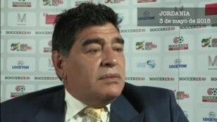 Maradona quiere sustituir a Blatter al frente de la FIFA.