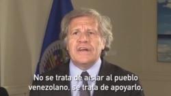 Almagro pide más sanciones contra Venezuela