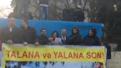 """Milli Şuranın """"Talana Son!"""" şüarı ilə keçiriln mitinqinin qətnaməsi"""