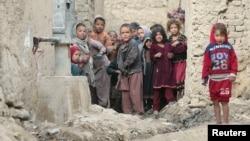 Афганские дети на окраине Кабула