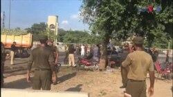 لاہور دھماکے کے بعد کے مناظر