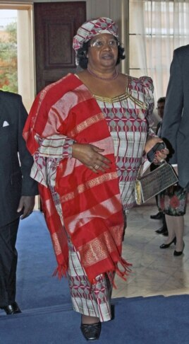 The President of Malawi Joyce Banda arrives at Marlborough House in London, England, June 6, 2012.