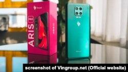 Một mẫu điện thoại Vsmart được Vingroup đăng lên trang web của tập đoàn hôm 9/5/2021.