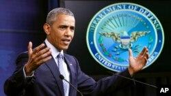 바락 오바마 미국 대통령은 4일 국방부에서 기자회견을 열고 ISIL 대응 노력과 성과에 대해 설명했다.