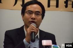 香港教育專業人員協會主席馮偉華。(美國之音湯惠芸)