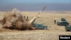 تصویر آرشیف از حملات راکتی نظامیان امریکایی