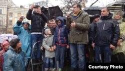 Михаил Саакашвили на «Марше возмущенных» в Киеве, 12 ноября 2017 Author Vladimir Ivakhnenko RFE/RL