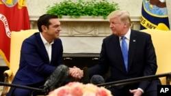 دیدار دونالد ترامپ رئیس جمهوری آمریکا با آلکسیس سیپراس نخست وزیر یونان در کاخ سفید - ۲۵ مهر ۱۳۹۶