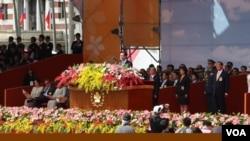 台政坛巨头齐聚双十 马英九:维持现状为台湾共识