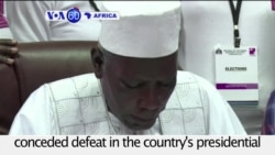 VOA60 Africa - Gambia: President Yahya Jammeh has conceded defeat