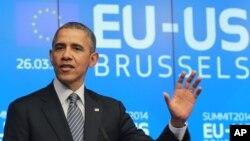 ABD Başkanı Barack Obama, Brüksel'de düzenlenen Avrupa Birliği - ABD Zirvesi'nde Ukrayna konusunda açık mesajlar verdi.