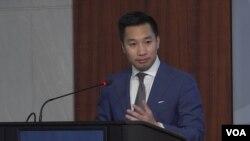 알렉스 웡 미국 국무부 북한담당 부차관보가 5일 워싱턴의 민간단체인 전략국제문제연구소 CSIS 토론회에서 북한 문제에 관한 견해를 밝혔다.
