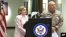 امریکی سفیر تقریب سے خطاب کررہی ہیں