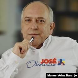 José Obdulio Gaviria, senador e ideólogo del Centro Democrático, partido político del expresidente Álvaro Uribe. [Foto cortesía: @JoseObdulio]