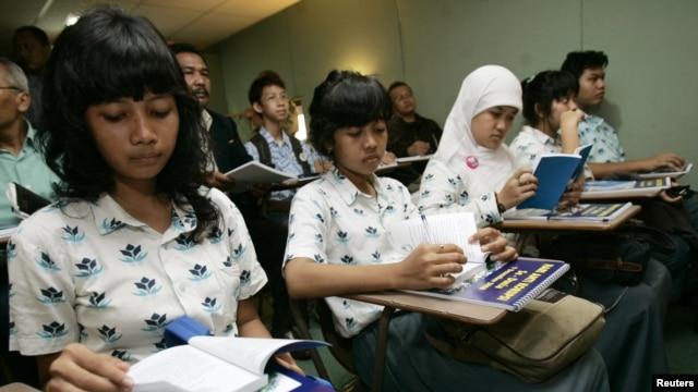 Tingkat ekspektasi  lamanya bersekolah di Indonesia meningkat dari 8,3 tahun pada 1980 menjadi 12,9 tahun pada 2012. (Foto: Dok)