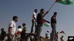 Protest Palestinaca blizu granice između Gaze i Izraela (arhivski snimak)