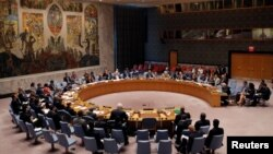 FILE - The United Nations Security Council holds a high-level meeting on Syria at the United Nations in Manhattan, New York,, Sept. 25, 2016.