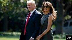 Tổng thống Trump và phu nhân Melania Trump sắp thăm Việt Nam (ảnh ngày 8/9/2017)
