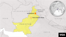 Bản đồ thành phố Dera Ismail Khan, Pakistan.