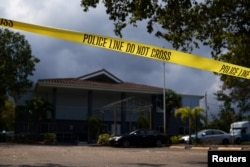 Police tape surrounds the Rehabilitation Center at Hollywood Hills in Hollywood, Fla., Sept. 13, 2017.