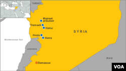Tremseh, Syria map
