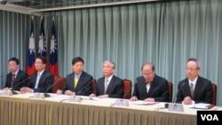 台灣官方就陳水扁現況召開國際記者會(美國之音 張永泰拍攝)