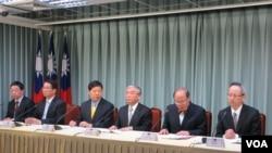 台湾官方就陈水扁现况召开国际记者会(美国之音张永泰拍摄)