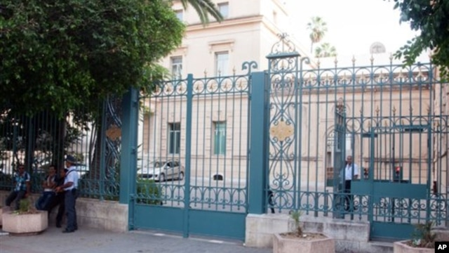Outside view of the French embassy in Tunis, Tunisia, September 19, 2012.