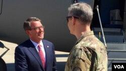 Đây là chuyến thăm thứ ba tới Iraq trên cương vị Bộ trưởng Quốc phòng Mỹ của ông Carter.