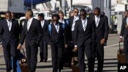 হণ্ডুরাসের ফুটবল খেলোয়াড়দের দল সাউথ আফ্রিকায় নামলেন
