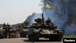 Lực lượng chính phủ Ukraine đang siết chặt vòng vây quanh các cứ địa của phe đòi ly khai thân Nga ở miền đông Ukraine.