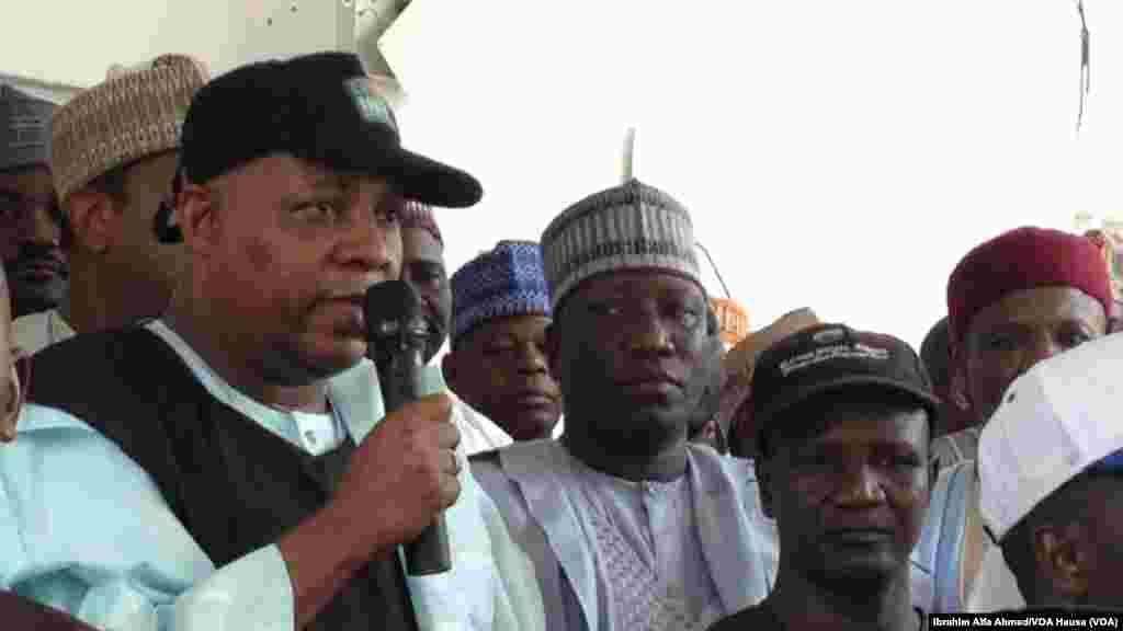 Gwamnan jihar Borno Ibrahim Shettima, Maiduguri, alhamis 22, ga Mayu 2014.