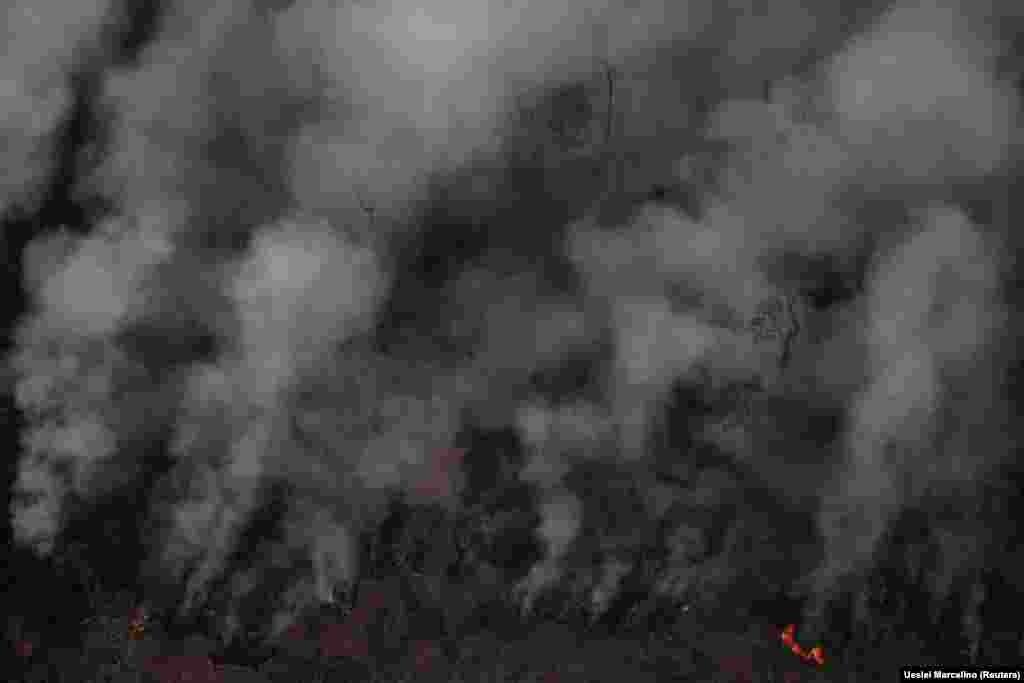 Floresta tropical da Amazónia arde junto a Porto Velho, no Estado de Rondónia. Brasil. 21 de Agosto